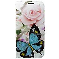 Недорогие Чехлы и кейсы для Galaxy S7-Кейс для Назначение SSamsung Galaxy S8 S7 Бумажник для карт Кошелек со стендом Флип Бабочка Цветы Твердый для