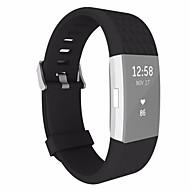 Недорогие Аксессуары для смарт-часов-Ремешок для часов для Fitbit Charge 2 Fitbit Спортивный ремешок Классическая застежка силиконовый Повязка на запястье