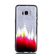 Недорогие Чехлы и кейсы для Galaxy S8-Кейс для Назначение SSamsung Galaxy S8 Plus S8 Прозрачный С узором Рельефный Кейс на заднюю панель дерево Твердый ПК для S8 Plus S8