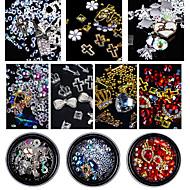 お買い得  ヘア、ネイル-ネイルキラキラ ぜいたく 宝石で飾られた 多色 模様 ネイルアートデザイン