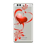 Недорогие Чехлы для телефонов-Кейс для Назначение Huawei P9 Huawei P9 Lite Huawei P8 Huawei Huawei P9 Plus Huawei P8 Lite P9 P10 Прозрачный С узором Кейс на заднюю