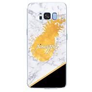 Недорогие Чехлы и кейсы для Galaxy S-Кейс для Назначение SSamsung Galaxy S8 Plus S8 С узором Кейс на заднюю панель Слова / выражения Мрамор Фрукты Мягкий ТПУ для S8 Plus S8