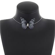 Недорогие $0.99 Модное ювелирное украшение-Жен. Ожерелья-бархатки / Ожерелья-цепочки - Бабочка Милая Лиловый, Розовый, Светло-Зеленый Ожерелье Бижутерия Назначение Повседневные, Праздники