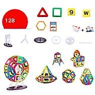 abordables Modelos y construcción de juguete-Bloques magnéticos Juguete Camión Vehículo de construcción Avión Juguetes Redondo Cuadrado Guerrero Coche Arquitectura Personas Animal
