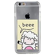 Недорогие Кейсы для iPhone 8-Кейс для Назначение Apple iPhone 6 iPhone 7 Полупрозрачный С узором Рельефный Кейс на заднюю панель Слова / выражения Мультипликация