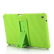 billige -Etui Til HUAWEI MediaPad T3 8.0 Med stativ Bagcover Ensfarvet Stribet Mønster Blødt Silikone for Huawei MediaPad T3 8.0