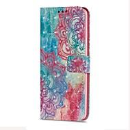 Недорогие Чехлы и кейсы для Galaxy S-Кейс для Назначение SSamsung Galaxy S9 S9 Plus Бумажник для карт Кошелек со стендом Флип Магнитный С узором Цветы Твердый Кожа PU для