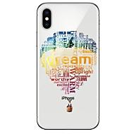 Недорогие Кейсы для iPhone 8 Plus-Кейс для Назначение Apple iPhone X / iPhone 8 Ультратонкий / С узором Кейс на заднюю панель Воздушные шары Мягкий ТПУ для iPhone X / iPhone 8 Pluss / iPhone 8