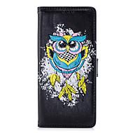 Недорогие Чехлы и кейсы для Galaxy Note 8-Кейс для Назначение Samsung Note 8 Бумажник для карт Флип С узором Чехол Сова Твердый Кожа PU для Note 8