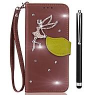 preiswerte Handyhüllen-Hülle Für Vivo Y53 Xplay6 Kreditkartenfächer Geldbeutel Strass mit Halterung Flipbare Hülle Ganzkörper-Gehäuse Volltonfarbe Hart PU-Leder