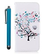 Недорогие Чехлы и кейсы для Galaxy A5(2016)-Кейс для Назначение SSamsung Galaxy A8 2018 A5(2017) Бумажник для карт Кошелек со стендом Флип Магнитный Чехол Цветы Твердый Кожа PU для