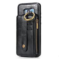 Недорогие Чехлы и кейсы для Galaxy Note-Кейс для Назначение Samsung Note 8 Кошелек Бумажник для карт Чехол Сплошной цвет Твердый Настоящая кожа для Note 8