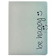 Недорогие Чехлы и кейсы для Galaxy Tab 3 10.1-Кейс для Назначение SSamsung Galaxy Tab 3 10.1 Бумажник для карт со стендом Флип С узором Чехол Слова / выражения Твердый Кожа PU для Tab