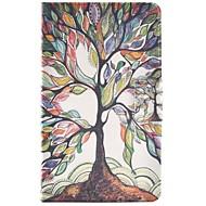 Недорогие Чехлы и кейсы для Galaxy Tab E 9.6-Кейс для Назначение SSamsung Galaxy Tab E 9.6 Бумажник для карт со стендом Флип С узором Чехол дерево Твердый Кожа PU для Tab E 9.6