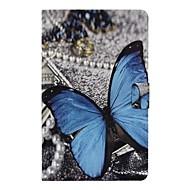 Недорогие Чехлы и кейсы для Samsung Tab-Кейс для Назначение SSamsung Galaxy Tab A 10.1 (2016) Бумажник для карт / со стендом / Флип Чехол Бабочка Твердый Кожа PU для Tab A 10.1 (2016)