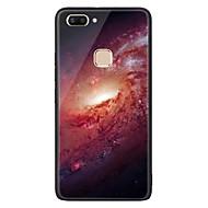 お買い得  携帯電話ケース-ケース 用途 Vivo X20 Plus X20 パターン バックカバー 塗装 ハード 強化ガラス のために vivo X20 Plus vivo X20