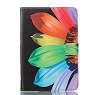 Недорогие Чехлы и кейсы для Samsung Tab-Кейс для Назначение SSamsung Galaxy Tab A 8.0 Кошелек со стендом Флип С узором Авто Режим сна / Пробуждение Чехол Цветы Твердый Кожа PU