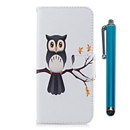 Недорогие Чехлы и кейсы для Galaxy Note-Кейс для Назначение SSamsung Galaxy Note 8 Бумажник для карт Кошелек со стендом Флип Магнитный Чехол Сова Твердый Кожа PU для Note 8