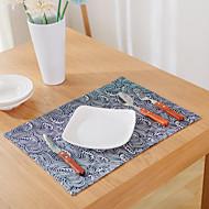 abordables Salvamanteles-Gráfico Mezcla de Lino y Algodón Cuadrado Juego de Mesa Decoraciones de mesa