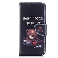 Недорогие Чехлы и кейсы для Galaxy A7(2017)-Кейс для Назначение Samsung A8 2018 A5(2017) Бумажник для карт Кошелек со стендом Флип Магнитный Чехол Животное Твердый Кожа PU для A3