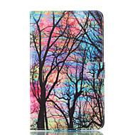 Недорогие Чехлы и кейсы для Samsung Tab-Кейс для Назначение SSamsung Galaxy Tab E 8.0 Кошелек со стендом Флип С узором Авто Режим сна / Пробуждение Чехол дерево Твердый Кожа PU