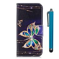 Недорогие Чехлы и кейсы для Galaxy S9 Plus-Кейс для Назначение Samsung S9 S9 Plus Бумажник для карт Кошелек со стендом Флип Магнитный Чехол Бабочка Твердый Кожа PU ТПУ для S9 Plus