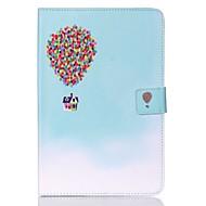 Недорогие Чехлы и кейсы для Samsung Tab-Кейс для Назначение SSamsung Galaxy Tab A 8.0 Кошелек / Бумажник для карт / со стендом Чехол Воздушные шары Твердый Кожа PU для