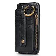 Недорогие Чехлы и кейсы для Galaxy J-Кейс для Назначение Samsung J7 Prime J5 Prime Бумажник для карт Кошелек Чехол Сплошной цвет Твердый Настоящая кожа для J7 Prime J5 Prime