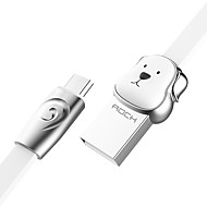 お買い得  -マイクロUSB USBケーブルアダプタ クイックチャージ ケーブル 用途 Samsung / Huawei / LG 100 cm 亜鉛合金