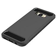 Недорогие Чехлы и кейсы для Galaxy S8-Кейс для Назначение SSamsung Galaxy S8 Plus S8 Защита от удара Кейс на заднюю панель Сплошной цвет Твердый ПК для S8 Plus S8