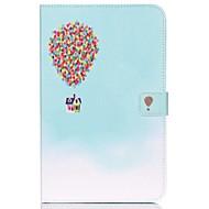 Недорогие Чехлы и кейсы для Samsung Tab-Кейс для Назначение Samsung Tab E 9.6 Кошелек / Бумажник для карт / со стендом Чехол Воздушные шары Твердый Кожа PU для Tab E 9.6