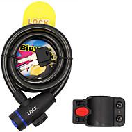 abordables Candados Mecánicos-Bloqueo de bicicleta Bloqueo de bicicleta de montaña Cable de acero Cable de bloqueo 120cm con soporte de montaje
