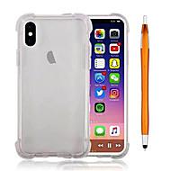 Недорогие Кейсы для iPhone 8-Кейс для Назначение Apple iPhone X iPhone 8 Plus Защита от удара Прозрачный Кейс на заднюю панель Сплошной цвет Мягкий ТПУ для iPhone X