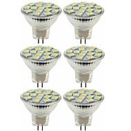お買い得  -SENCART 6本 80W 5W 260lm MR11 LEDスポットライト MR11 15 LEDビーズ SMD 5060 装飾用 温白色 クールホワイト 12V