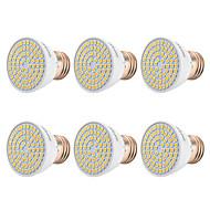 olcso LED szpotlámpák-YWXLIGHT® 6db 7 W 500-700 lm E26/E27 LED szpotlámpák 72 led SMD 2835 Meleg fehér Hideg fehér Természetes fehér 110-130V 220-240 V