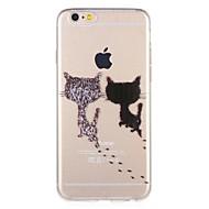 Недорогие Кейсы для iPhone 8 Plus-Кейс для Назначение Apple iPhone 8 / iPhone 7 С узором Кейс на заднюю панель Кот / Мультипликация Мягкий ТПУ для iPhone 8 Pluss / iPhone 8 / iPhone 7 Plus