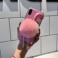Недорогие Кейсы для iPhone 8 Plus-Кейс для Назначение Apple iPhone X iPhone 7 Plus С узором Кейс на заднюю панель Фламинго Мягкий текстильный для iPhone X iPhone 8 Pluss