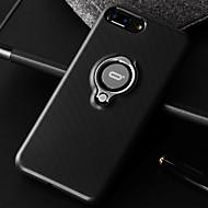 Недорогие Кейсы для iPhone 8 Plus-Кейс для Назначение Apple iPhone 7 Plus iPhone 7 Защита от удара Кольца-держатели Кейс на заднюю панель Сплошной цвет Мягкий Кожа PU для