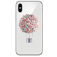 Недорогие Кейсы для iPhone 8 Plus-Кейс для Назначение Apple iPhone X / iPhone 8 Ультратонкий / Прозрачный / С узором Кейс на заднюю панель Воздушные шары Мягкий ТПУ для iPhone X / iPhone 8 Pluss / iPhone 8
