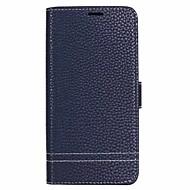 Недорогие Чехлы и кейсы для Galaxy S9-Кейс для Назначение SSamsung Galaxy S9 Plus / S9 Бумажник для карт / со стендом Чехол Однотонный Твердый Настоящая кожа для S9 / S9 Plus