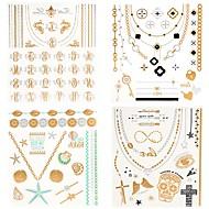 cheap Temporary Tattoos-4 pcs Tattoo Stickers Temporary Tattoos Totem Series / Jewelry Series Waterproof Body Arts Body / Hand / Arm