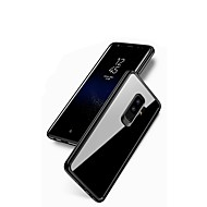 Недорогие Чехлы и кейсы для Galaxy S9-Кейс для Назначение SSamsung Galaxy S9 Plus / S9 Зеркальная поверхность / Прозрачный Кейс на заднюю панель Сплошной цвет Мягкий Силикон для S9 / S9 Plus / S8 Plus