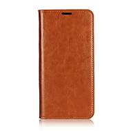 Недорогие Кейсы для iPhone 8-Кейс для Назначение Apple iPhone 8 iPhone 7 Бумажник для карт со стендом Флип Чехол Сплошной цвет Твердый Настоящая кожа для iPhone 8
