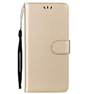 Недорогие Чехлы и кейсы для Galaxy Note-Кейс для Назначение SSamsung Galaxy Note 8 Бумажник для карт со стендом Флип Чехол Сплошной цвет Твердый Кожа PU для Note 8