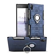 お買い得  携帯電話ケース-ケース 用途 Sony Xperia XA1 耐衝撃 バンカーリング 360°ローテーション バックカバー 純色 ハード PC のために Sony Xperia XA1