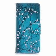 Недорогие Чехлы и кейсы для Galaxy S6 Edge Plus-Кейс для Назначение SSamsung Galaxy S9 Plus / S9 Кошелек / Бумажник для карт / со стендом Чехол Цветы Твердый Кожа PU для S9 / S9 Plus / S8 Plus