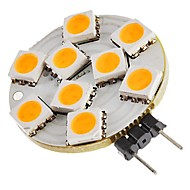 abordables Luces LED de Doble Pin-SENCART 1pc 1.5W 270lm G4 Luces LED de Doble Pin T 9 Cuentas LED SMD 5050 Decorativa Blanco Cálido 12V