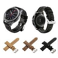 Недорогие Аксессуары для смарт-часов-Ремешок для часов для Gear S3 Frontier / Gear S3 Classic / Gear S3 Classic LTE Samsung Galaxy Классическая застежка Натуральная кожа Повязка на запястье