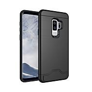 Недорогие Чехлы и кейсы для Galaxy S9-Кейс для Назначение SSamsung Galaxy S9 S9 Plus Бумажник для карт Защита от удара со стендом Кейс на заднюю панель Сплошной цвет Твердый ПК