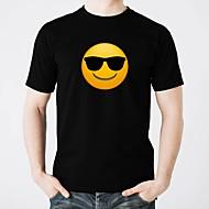 voordelige LED T-shirts-led-t-shirts gloeien puur katoen led casual 2 × aa